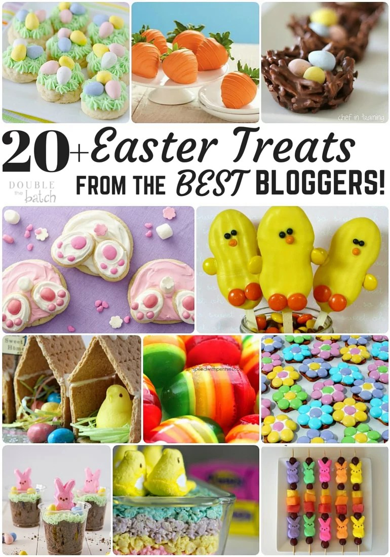 20 of the best easter treats from the best bloggers! These can't help but bring out the kid in me!