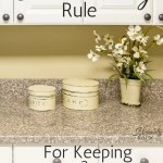 The One a Day Rule for Keeping a Clean Home