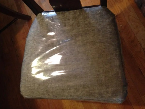 plastic covered chair