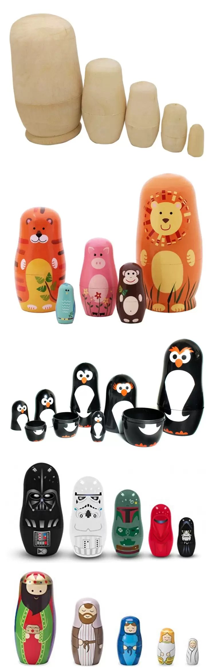 Ideas for Making your own Nesting Doll Ideas. Great gift idea!