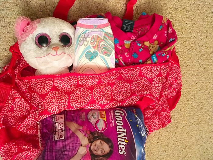 Great tips for sleepovers and traveling when you have a bedwetter. #RestEasyTonight @GoodNites
