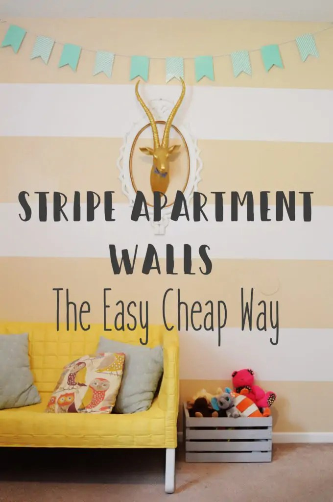 The perfect solution for apartment walls. Stripe your apartments walls the easy and cheap way using vinyl.