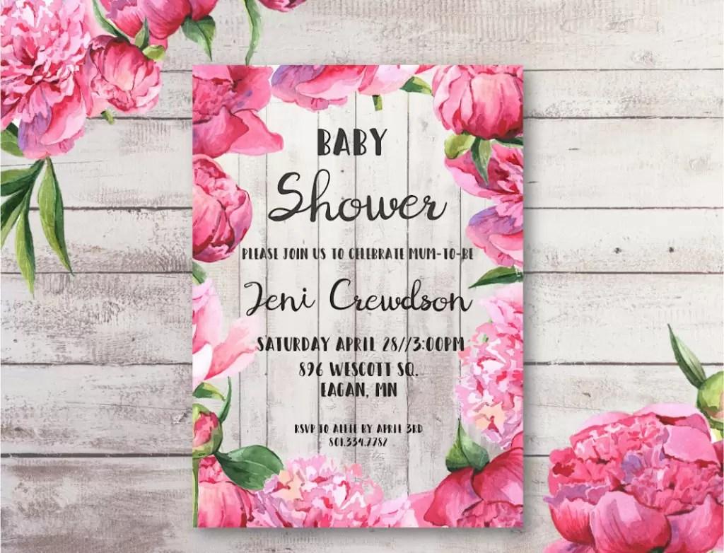 Free printable and editable baby shower invitation.