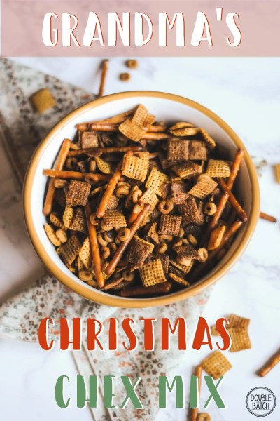 Grandma's Christmas Chex Mix