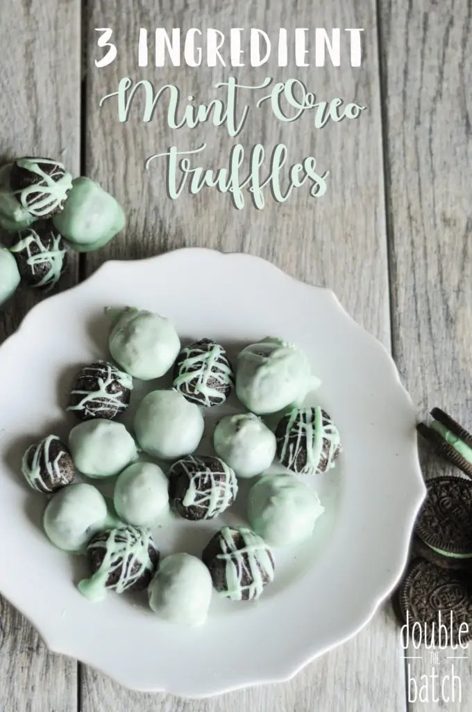 This easy 3 ingredient mint Oreo truffles recipe is a quick go to dessert, especially fun for  Saint Patricks day. So delicious and easy you'll find yourself making them for every holiday!