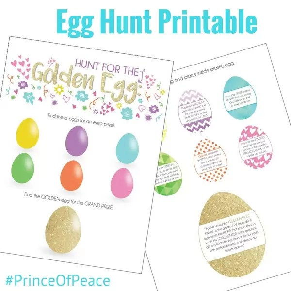 Egg Hunt Printables that Celebrate Jesus Christ