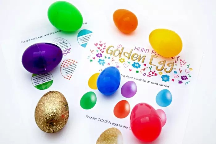 Golden Egg Hunt: Free Printable Rhymes Celebrating Jesus Christ