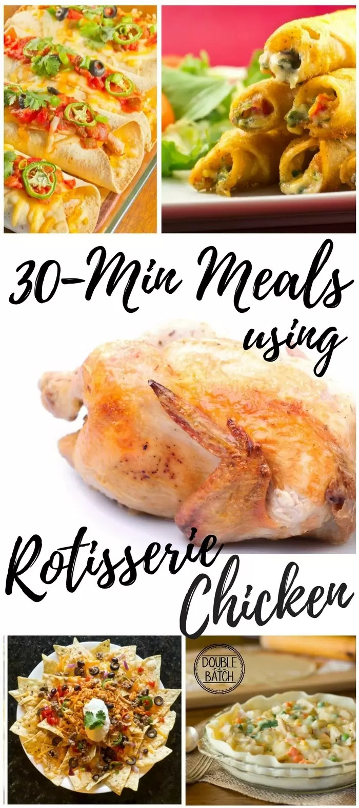 These chicken recipes save my life, and are so easy to use with a store-bought rotissoire chicken!