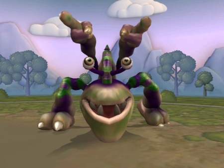 Huggles, my first creature created on the Spore Creature Creator