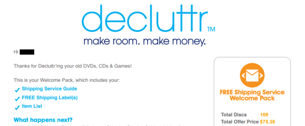 Decluttr Review, Or How I More Than Tripled My Money