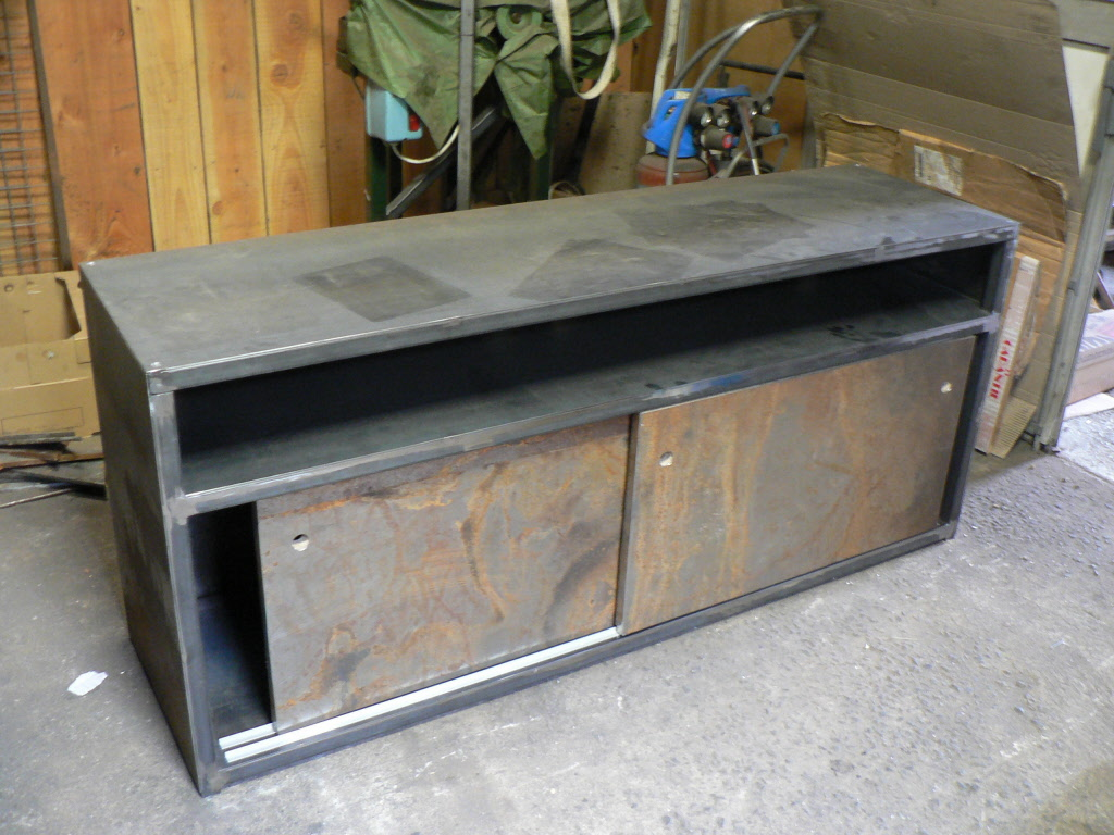 SideboardTV Unit 2 Doors 1 Compartment In Metal From 2115