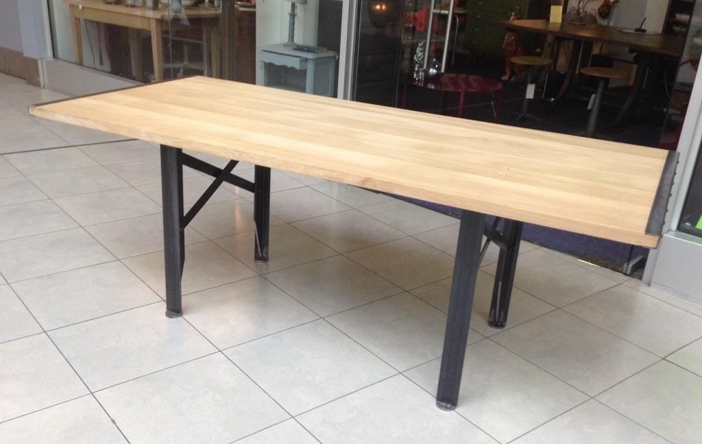 Table A Rallonges Design LOFT Metal Et Bois