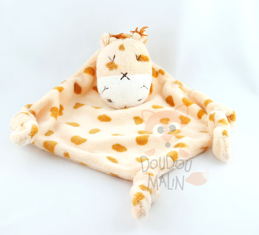 blanc doudou plat girafe orange