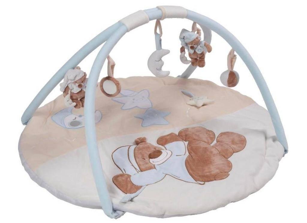 nattou tapis eveil ours bibou bleu doudouplanet livraison gratuite 24 48h