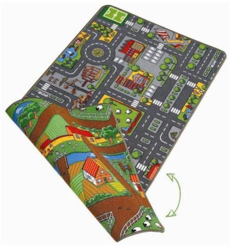 tapis circuit duoplay ville et campagne 120x80 cm