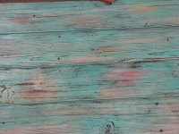 Rustic Distressed Coffee Table with Aqua Color Pop ...
