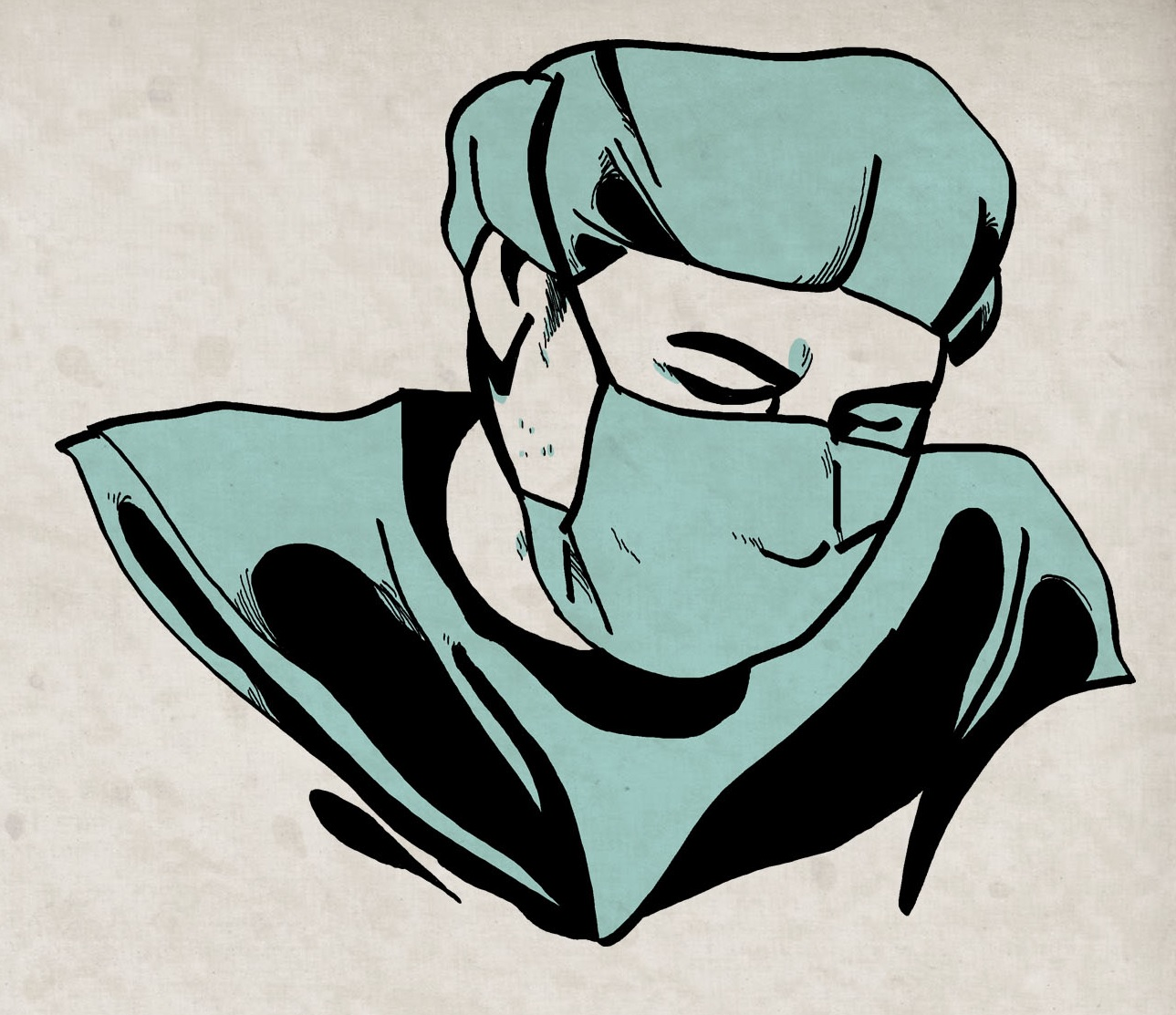 Doug med mask