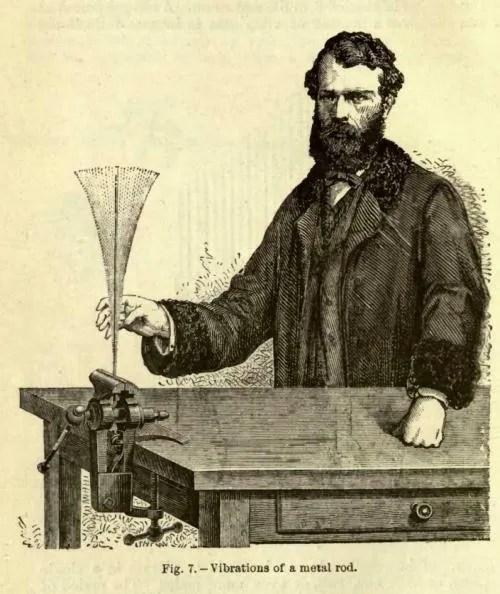 vibrations of a metal rod