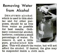 Removing Water From Alcohol