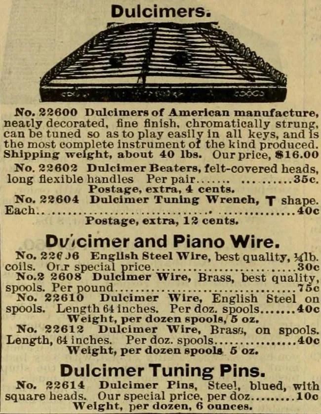 Hammered Dulcimer For Only 16.00 Circa 1898