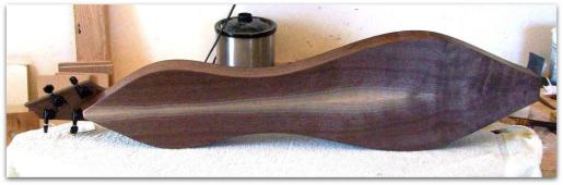 Dulcimer #132 by Doug Berch - walnut - back