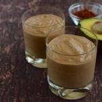 Avocado chocolate coconut smoothie