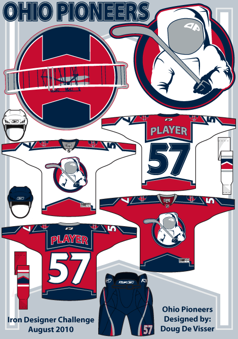 Ohio Pioneers hockey club concept - August 2010