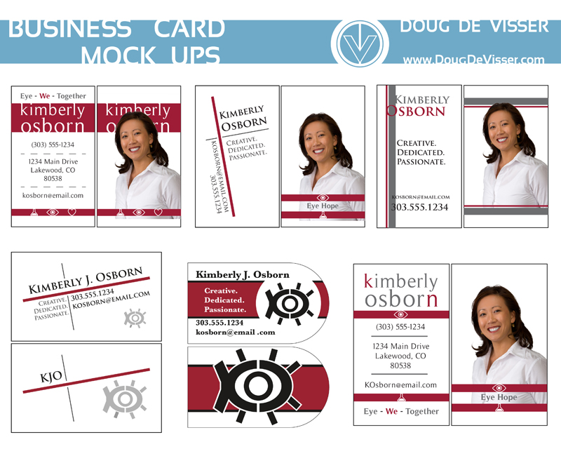 A collection of business card mockups - October 2011