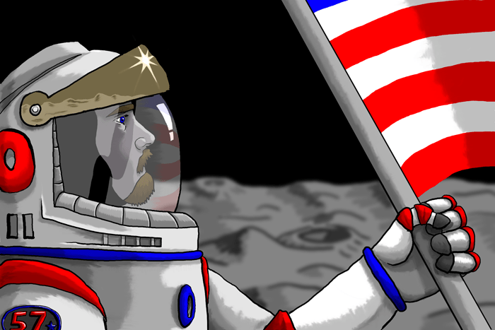"""""""When I grow up"""" series - Neil Armstrong - 2008 - digital painting"""