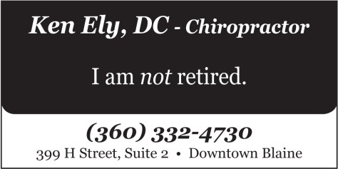 An advertisement for a chiropractor found in the 2014 April 18 edition of The Northern Light.
