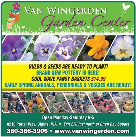 Van Wingerden advertisement from the 2014 March 27 issue of The Northern Light.