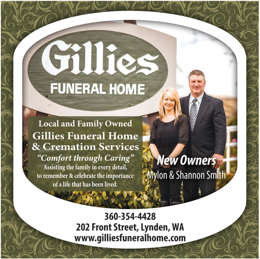a Gillies Funeral Home advertisement from the 2014 June 26 edition of The Northern Light.