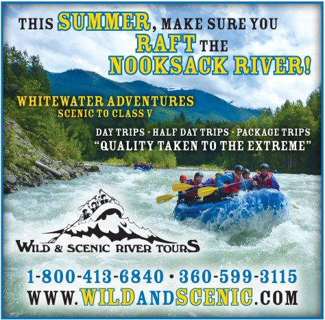 An advertisement for Wild & Scenic River Tours that was run in the 2014 July 10 of The Northern Light.