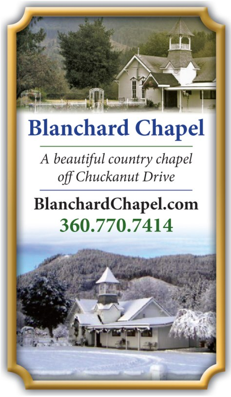 Blanchard Chapel ad that was built for the 2014 edition of Pacific Coast Weddings.
