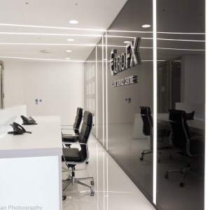 Washroom and Cre8 Joinery's EuroFX office refit.