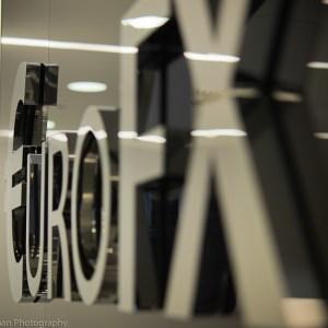 Euro FX signs interior detail.