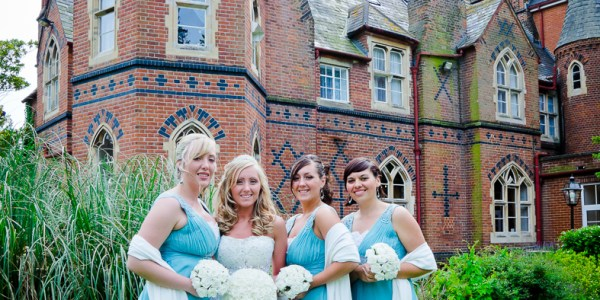 The Bride and Bridesmaids. The wedding of James and Laura Roushas, Dover, Kent.