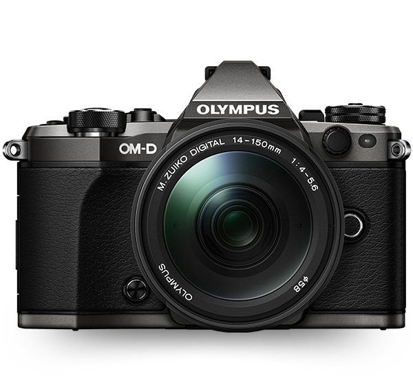 The Olympus OM-D EM-5 MkII, though this image (courtesy of Olympus) does not show my lens combination.