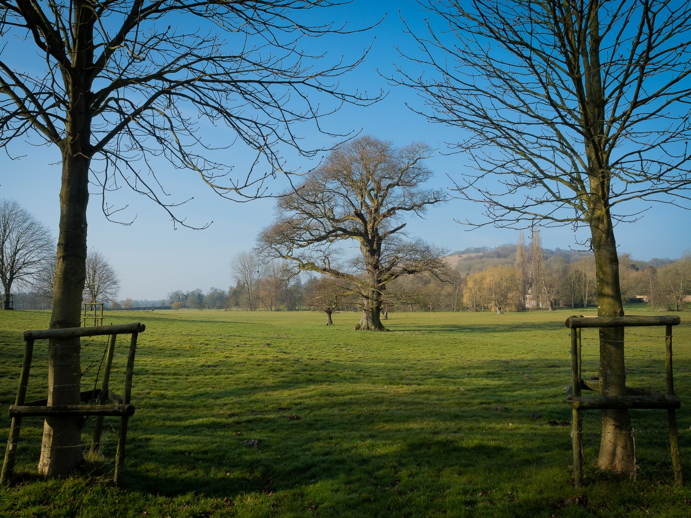A view of area near the Great Stour at Godmersham, Kent.