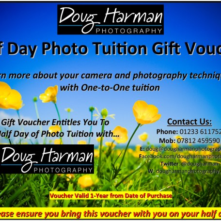 Doug Harman Photography offers Photo Tuition Full and Half Day Gift Vouchers, buy yours today!