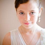 A natural light portrait of a bridesmaid.