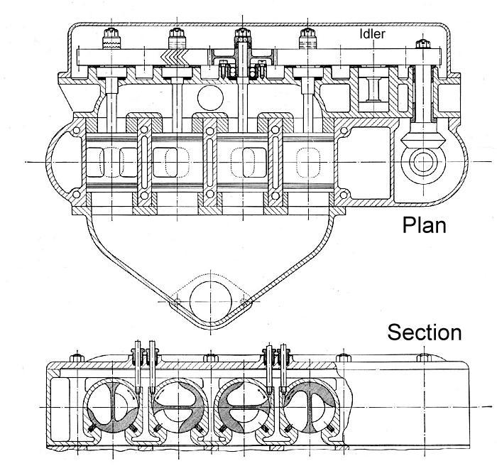 Rotary Valve Engine Diagram. Catalog. Auto Parts Catalog