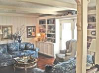 French Country Style Family Room Bookcases.