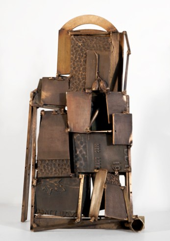 Tablet, Book of Books, 2010. Bronze, brass. 26.5 x 15 x 7.5 in.