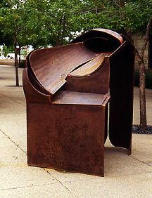 Gentle Rain, 1995. Steel-rust, paint. 92 x 73 x 47 in.