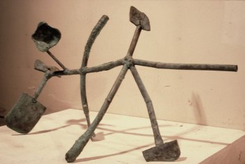 Mudra Steptoe, 1983. Patinated bronze 26 x 44 x 18 in.