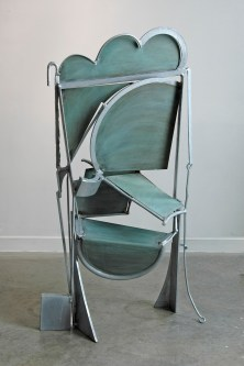 Song for Picasso, 2012. Galvanized steel and iron, patinated brass 61 x 36 x 20 in.