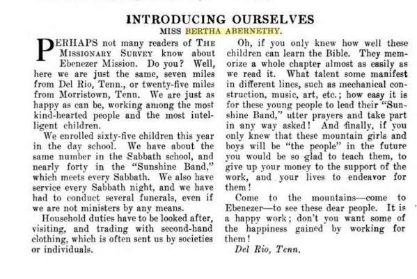 The Missionary Survey June 1913. p. 612