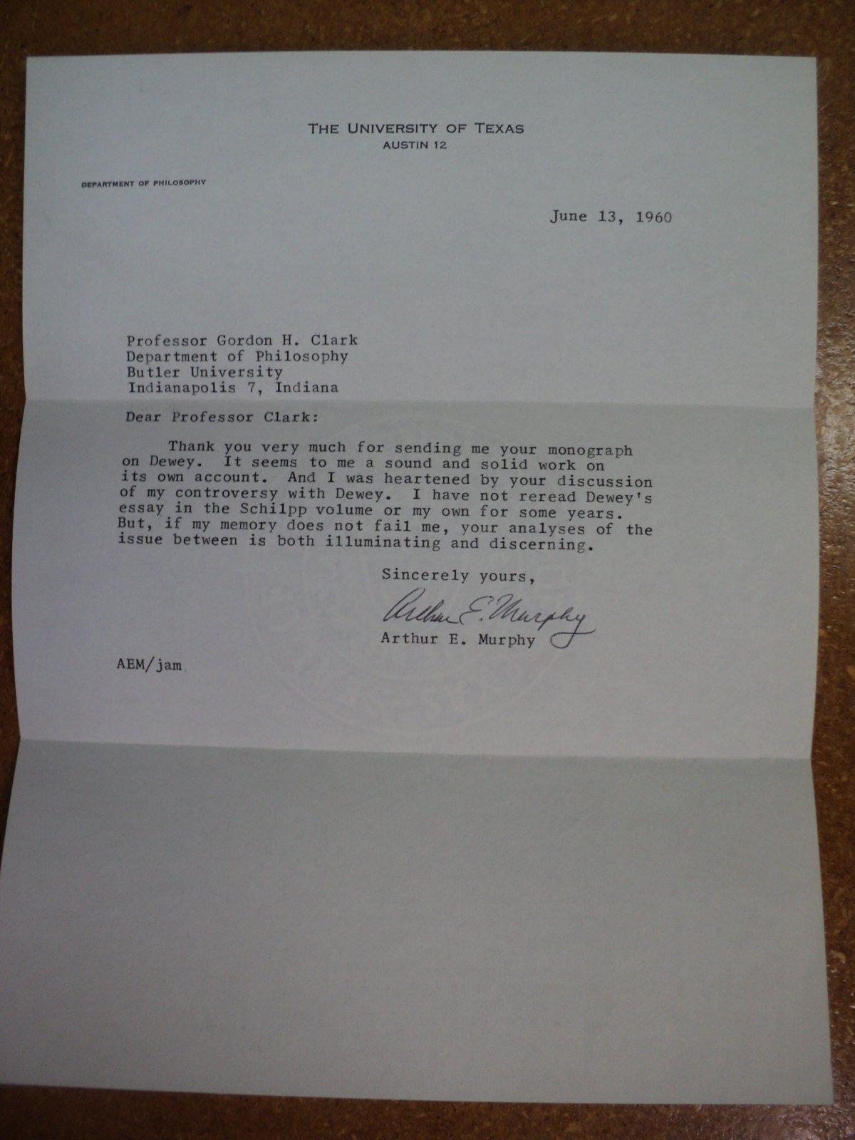 GHC Review 10; Dewey - Arthur E. Murphy 1960