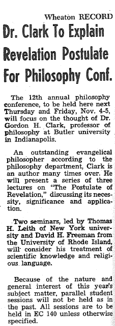 GHC Review 17; The Philosophy of Gordon H. Clark 3